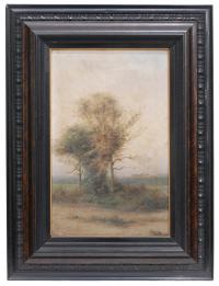 657-ATRIBUIDO A RICARD URGELL (1873–1924) Paisaje con árbol.