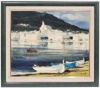 644-ALBERT JUNYENT (1903-1976)CadaquésÓleo sobre lienzo