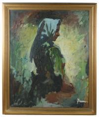 "704-JOSEP TRUCO PRAT (1923)""Gitana húngara""Óleo sobre lienzo"