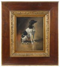 799-JOAQUÍN SOROLLA Y BASTIDA (1863-1923)Un perroÓleo sobre lienzo