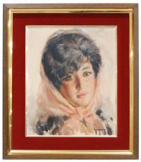 713-IGNACIO GIL (1913-2003)Una jovenÓleo sobre lienzo