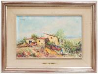 668-RAMON CAPMANY (1899-1992)Paisaje con masiaÓleo sobre lienzo