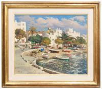 659-EZEQUIEL TORROELLA (1921-1998)CadaquésÓleo sobre lienzo