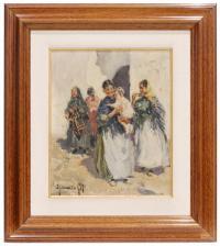 726-IGNACIO GIL (1913-2003)IbicencasÓleo sobre lienzo