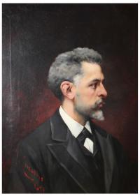 733-JOSEP CUSACHS I CUSACHS (1851-1908)Retrato de Lluís Granes Arrufi.