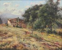 """1347-ELÍAS GARRALDA ALZUGARAY (1926-2012). """"PAISAJE DE MONTAGUT"""", 1988."""