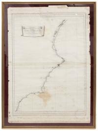 """497-VICENTE TOFIÑO DE SAN MIGUEL Y WANDERIALES (1732- 1795). """"CARTA ESFÉRICA DE LA COSTA DE ESPAÑA DESDE CABO DE GATA HASTA CABO DE OROPESA"""", 1786."""