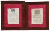 593-DOS CERTIFICADOS CONFIRMANDO EN 1785 y 1789 QUE UNOS CIUDADANOS DE MATARÓ ESTABAN LIBRES DE LA PESTE.