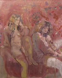 """949-ANTONI MUNILL (1939-1977). """"DOS JÓVENES"""", 1975."""