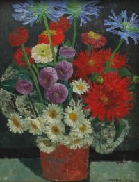 """973-JOSEP MARIA MALLOL SUAZO (1910-1986). """"FLORES""""."""