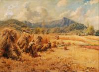 """753-VICENÇ SOLE JORBA (1904-1949). """"OLOT LANDSCAPE"""", 1942."""
