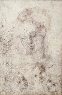 """1335-GRAZIE PIEROTTI (SIGLO XX). """"SOGETTO IN ROSA (SUJETO EN ROSA)"""", 1979 Y """"MATERNIDAD""""."""