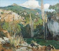"976-JOSEP PUIGDENGOLAS BARELLA (1906-1987). ""PAISAJE""."