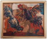 "827-JOSÉ VELA ZANETTI (1913-1999). ""PELEA DE GALLOS"", 1970."