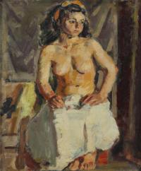 """952-IGNASI MUNDÓ (1918-2012). """"JOVEN DESNUDA""""."""