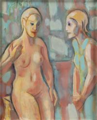 """1922-PERE GASTÓ (1908-1997). """"FIGURAS"""", 1971."""