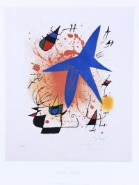 """203-A PARTIR DE JOAN MIRÓ (1893-1983). """"L'ETOILE BLEU""""."""