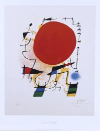 """204-A PARTIR DE JOAN MIRÓ (1893-1983). """"LE SOLEIL ROUGE""""."""