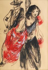 "212-JORDI ROLLAN LAHOZ (1940). ""PAREJA""."