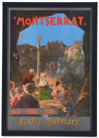 "194-ESCUELA CATALANA, PPS. SIGLO XX. CARTEL DE ""MONTSERRAT 1031-1881-1931. FESTES JUBILARS"", C. 1931."