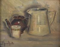 "1293-JOSEP SERRASANTA (1916-1998). ""BODEGÓN""."