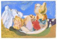 """829-BENJAMÍN PALENCIA (1894-1980). """"BODEGÓN CON FRUTA"""", 1970."""