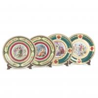 734-FOUR DECORATIVE DISHES, EARLY 20TH CENTURY