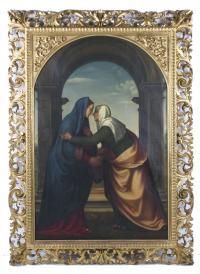 """838-LUIGI ALDANA (SIGLO XIX).  """"LA VISITACIÓN""""."""