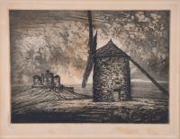 """196-MANUEL CASTRO GIL (1891-1961). """"MOLINO DE CONSUEGRA""""."""