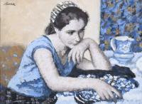 """3175-FRANCESC SERRA CASTELLET (1912-1976). """"A GIRL""""."""
