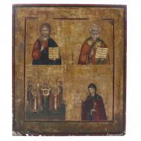 3174-20TH CENTURY RUSSIAN SCHOOL. HOLY MEN.