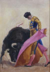 """3311-JOSÉ MARÍA TUSER VÁZQUEZ (1919-1986). """"EL TORERO SANTIAGO MARTÍN, """"EL VITI"""", 1962."""