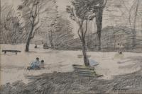 "3343-PERE GUSSINYÉ GIRONELLA (1898-1980). ""PARK""."