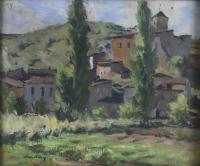 """3191-JOAN VILA PUIG (1892-1963). """"VILLAGE""""."""