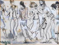 """3340-RAMÓN AGUILAR MORÉ (1924-2015). """"DANCE SCENE"""", '77."""