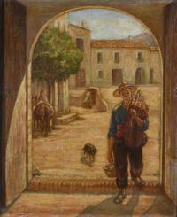 "3353-RAMON PALMAROLA ROMEU (1877-1943). ""YOUNG FARMER""."