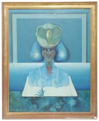 """762-JOSE DÍAZ OLIVA (1938-2001). """"Carril de Pacheco""""."""