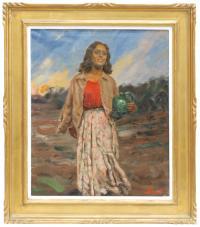 702-JACINT BASSÓ VILA (1894 - 1951)GitanaÓleo sobre lienzo