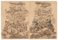 649-NICOLAS DORIGNY (1652/58-1746) PAREJA DE GRABADOS.