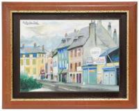 """797-RAMÓN AGUILAR MORE (1924-2015)""""Vista rural"""" (Francia)"""