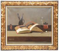 "966-RAFAEL DURANCAMPS (1891-1979)""Bodegón"" Óleo sobre lienzo"