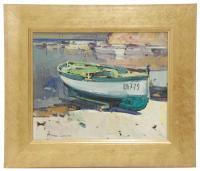 """795-JOSEP MARTINEZ LOZANO (1923-2006)""""Barca en la playa"""""""