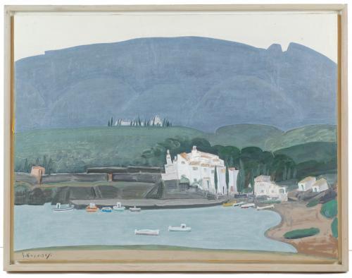 SHIGEYOSHI KOYAMA (1940), Port Lligat, Óleo sobre lienzo