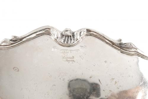 SPANISH SILVER AND SILVER FILIGREE CENTREPIECE, MID C20th.