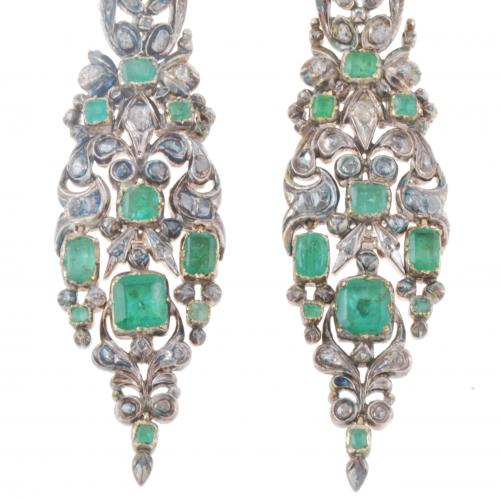 CATALAN DROP EARRINGS, C19th.