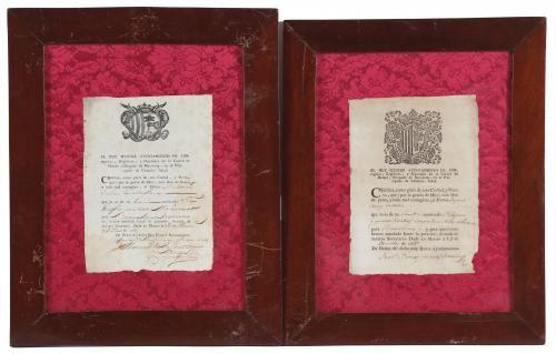 DOS CERTIFICADOS CONFIRMANDO EN 1785 y 1789 QUE UNOS CIUDAD