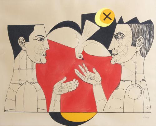 """EDUARDO ALCOY (1930-1987). """"COMPOSICIONES ALEGÓRICAS"""", 1968."""