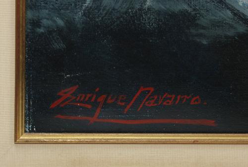 """ENRIQUE NAVARRO (1924-1997). """"JÓVENES DESVISTIÉNDOSE""""."""