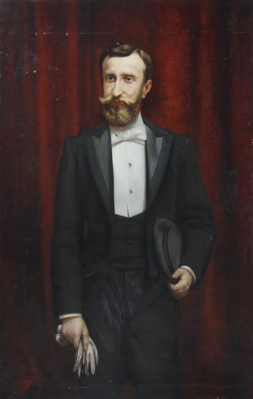 """RICARDO MARTÍ AGUILÓ (1868-1936). """"RETRATO MASCULINO""""."""