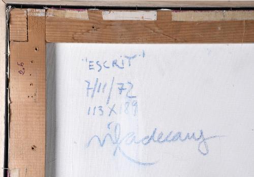 "JOAN PERE VILADECANS (1948). ""ESCRIT"", 1972."